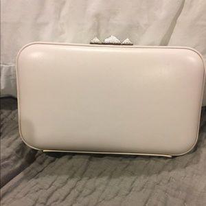 Rebecca Minkoff White Leather Minaudière Clutch